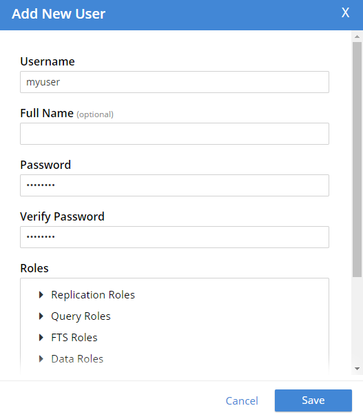 Adding a new user for authentication and authorization
