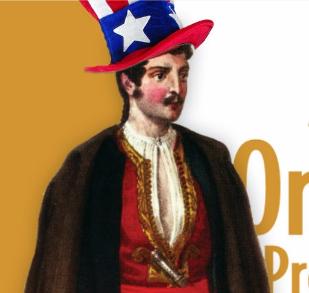 The Archduke, wearing a patriotic hat