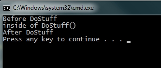 Sheep Aspect example console output