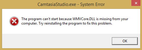WMVCore.dll is missing