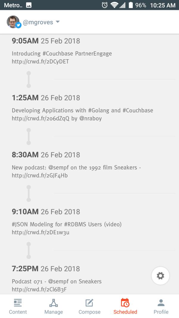 Crowdfire scheduling