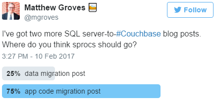 Twitter straw poll on Stored Procedures