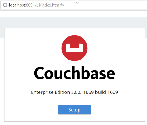 Couchbase Server 5.0 Setup Screen