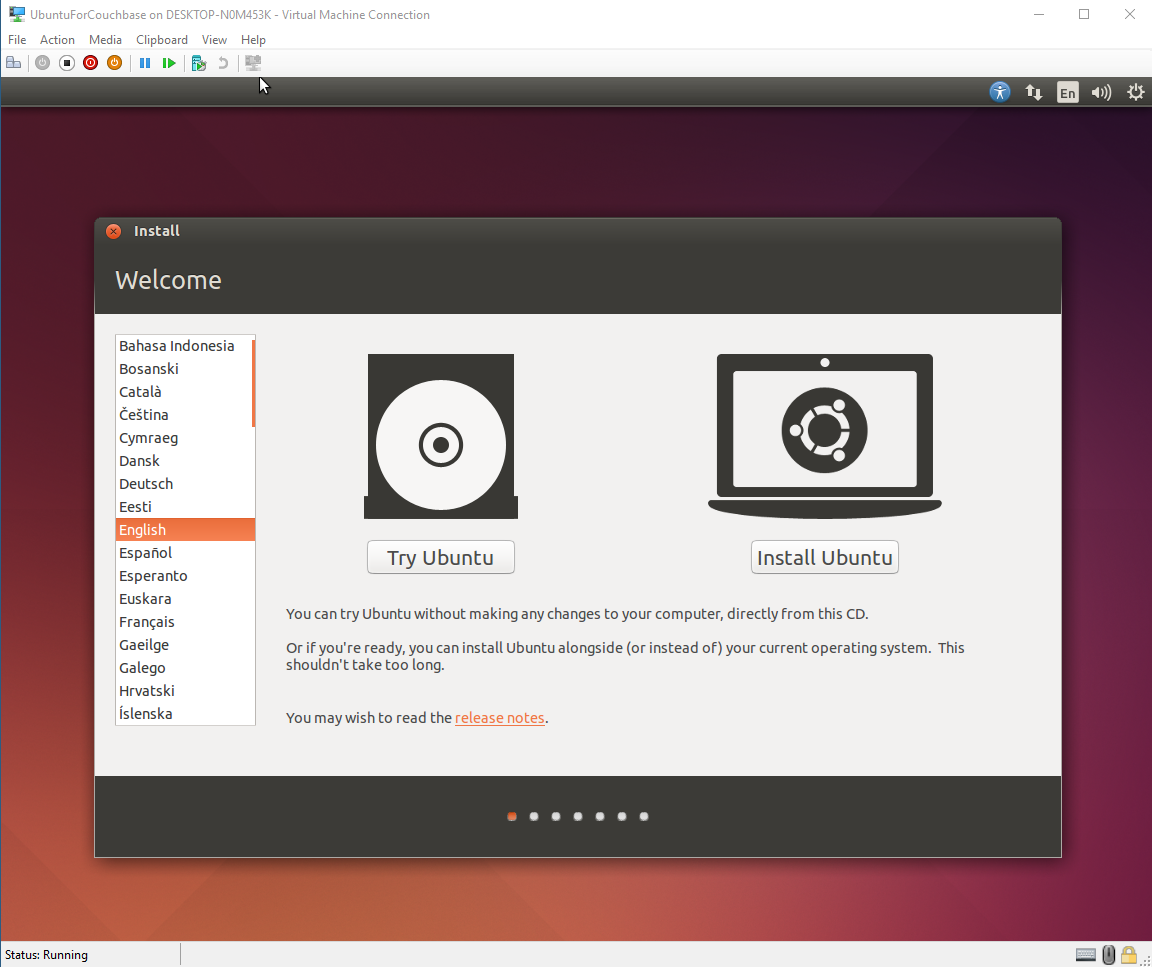 Ubuntu in Hyper-V