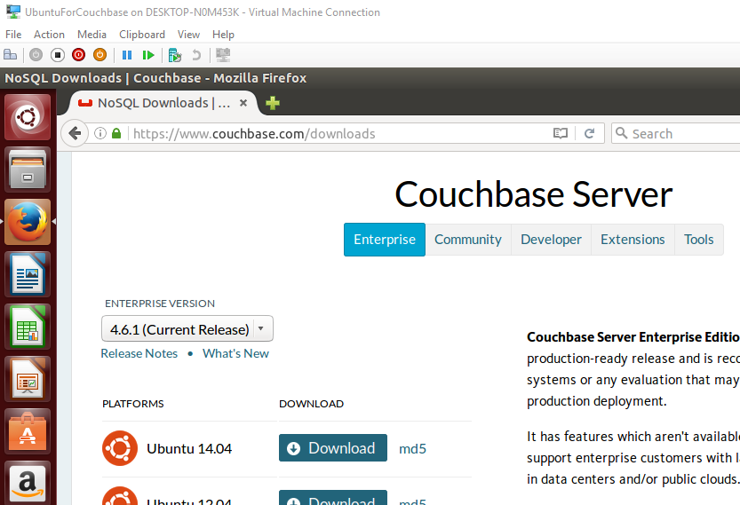 Download Couchbase for Ubuntu