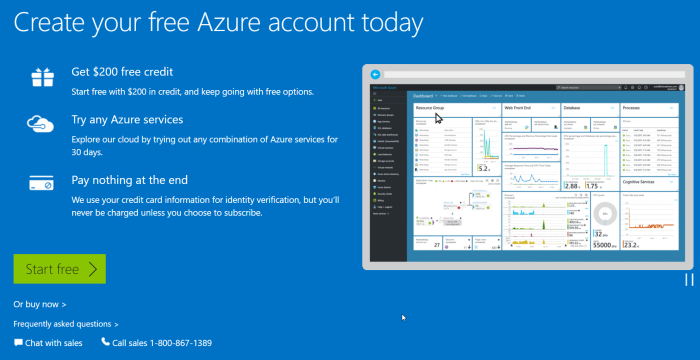 Create Azure account