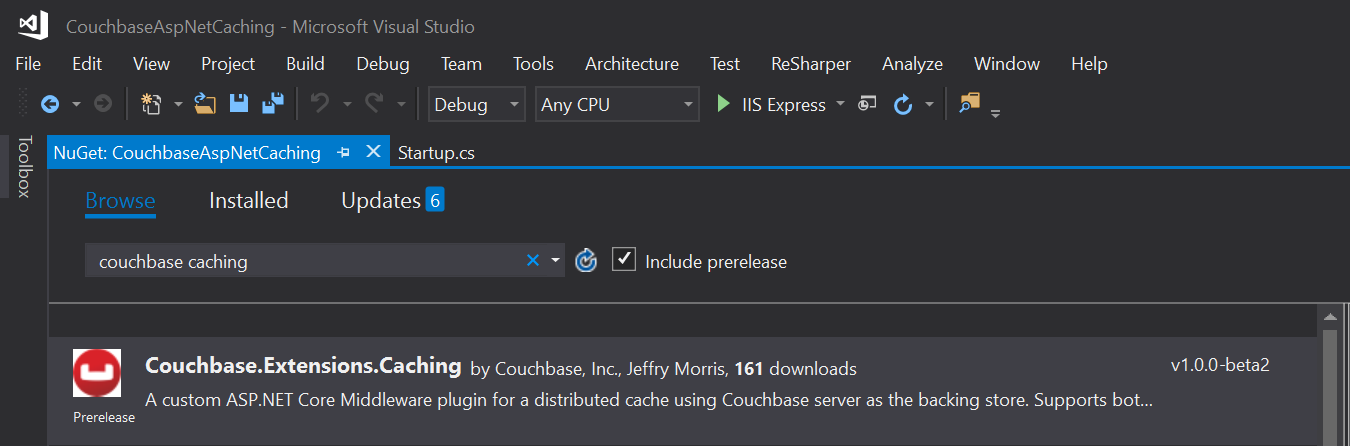 Couchbase extension for distributed caching available on NuGet